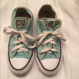 Mint Converse shoes